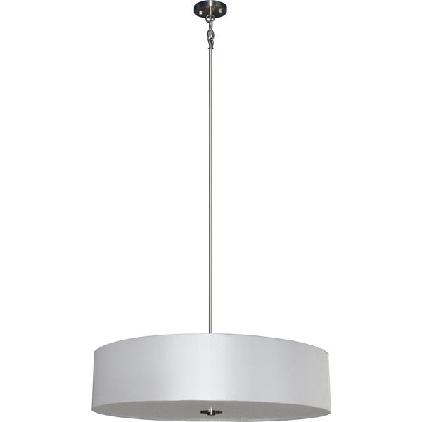 Whitfield Lighting 5-Light Chandelier with Shade - 7-in x 30-in - Light Grey