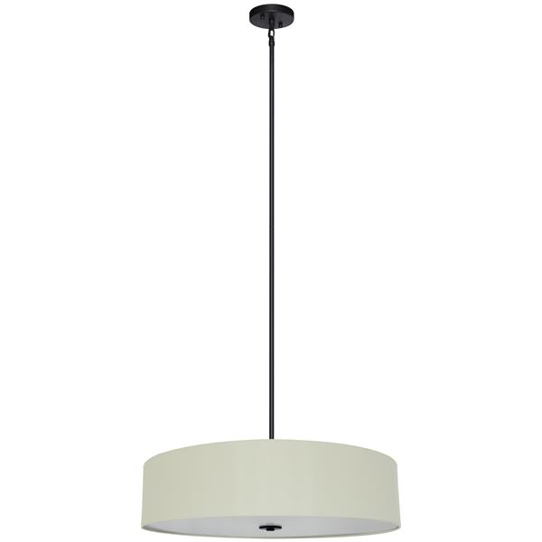 Whitfield Lighting 5-Light Chandelier with Shade - 7-in x 30-in - Cream