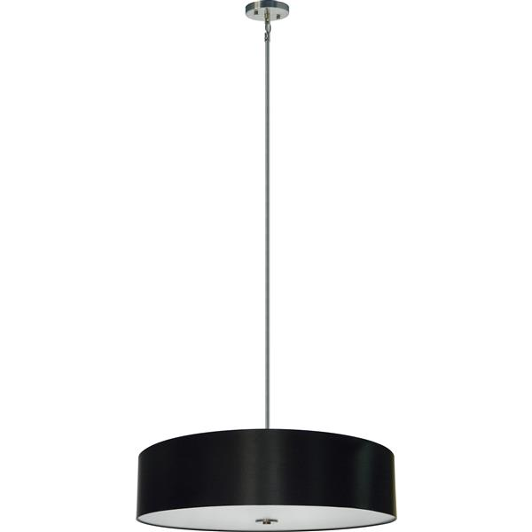 Whitfield Lighting 5-Light Chandelier with Shade - 7-in x 30-in - Black