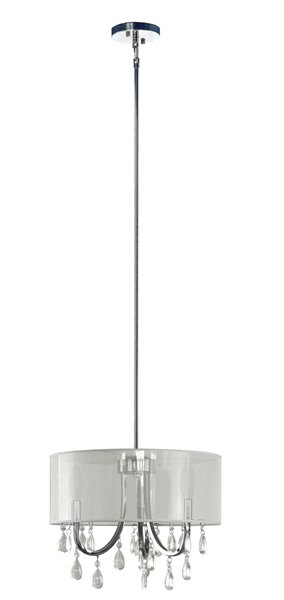 Whitfield Lighting 3-Light Chandelier with Shade - 12.85-in x 15.75-in - Chrome