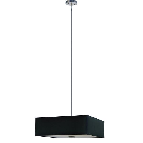 Whitfield Lighting 3-Light Chandelier with Shade - 7-in x 22-in - Black