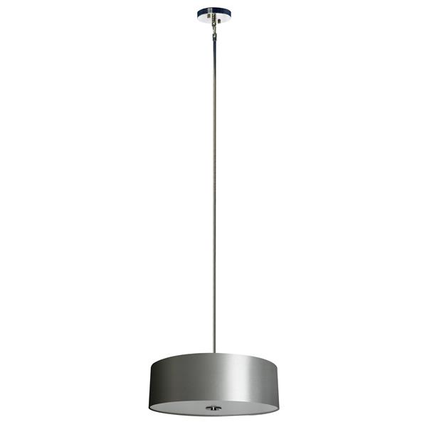 Whitfield Lighting 4-Light Chandelier with Shade - 7-in x 22-in - Grey