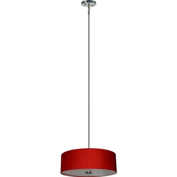 Whitfield Lighting 4-Light Chandelier with Shade - 7-in x 22-in - Chrome/Red