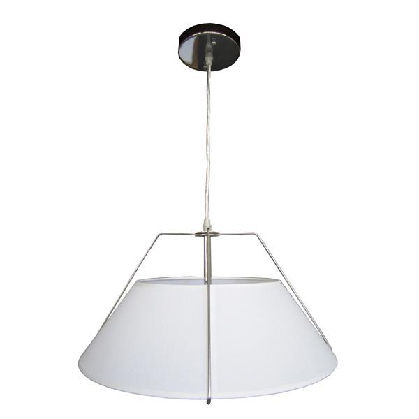 Whitfield Lighting 2-Light Chandelier - 9-in x 16-in - White/Chrome