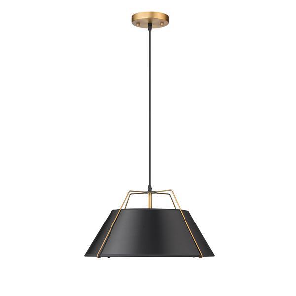 Whitfield Lighting 2-Light Chandelier - 9-in x 16-in - Black/Gold