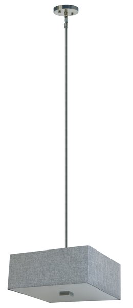 Whitfield Lighting Modena 3-Light Chandelier - 7-in x 16-in - Grey