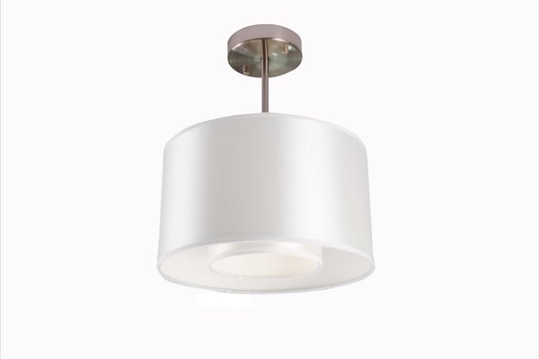 Whitfield Lighting Samantha 1-Light Chandelier - 8-in x 12-in - Bronze/White