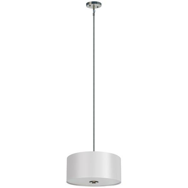 Whitfield Lighting Modena 3-Light Chandelier - 7-in x 16-in - White