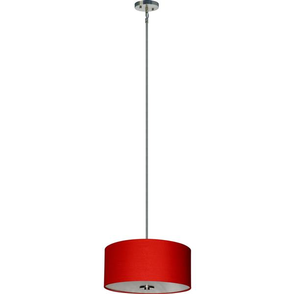 Whitfield Lighting Modena 3-Light Chandelier - 7-in x 16-in - Red