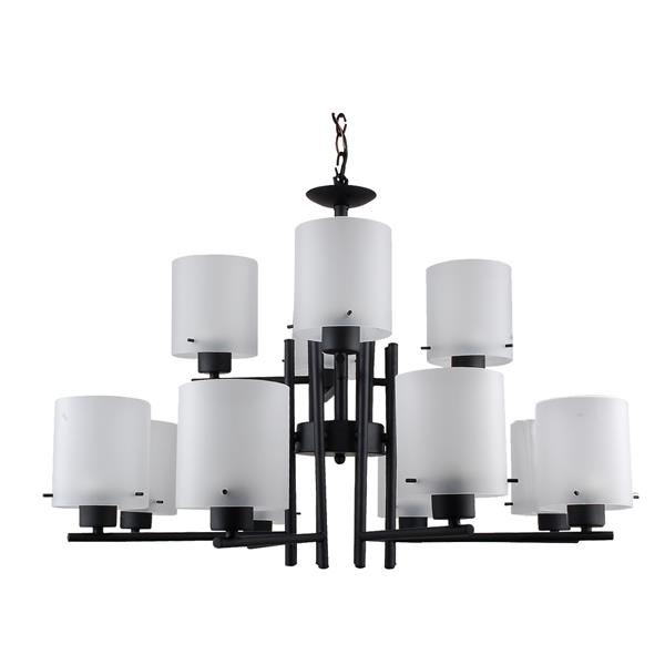 Whitfield Lighting Dexter 12-Light LED Chandelier - 20-in x 30-in - Black