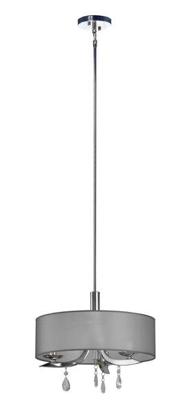 Whitfield Lighting Diane 3-Light Chandelier - 11-in x 15.75-in - Chrome