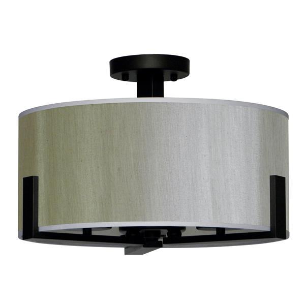 Whitfield Lighting Semi Flush 3-Light Chandelier - 11-in x 16.8-in - Toffee