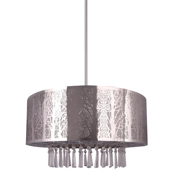 Whitfield Lighting Whisper Semi Flush 3-Light Chandelier - 12-in x 20-in - Chrome