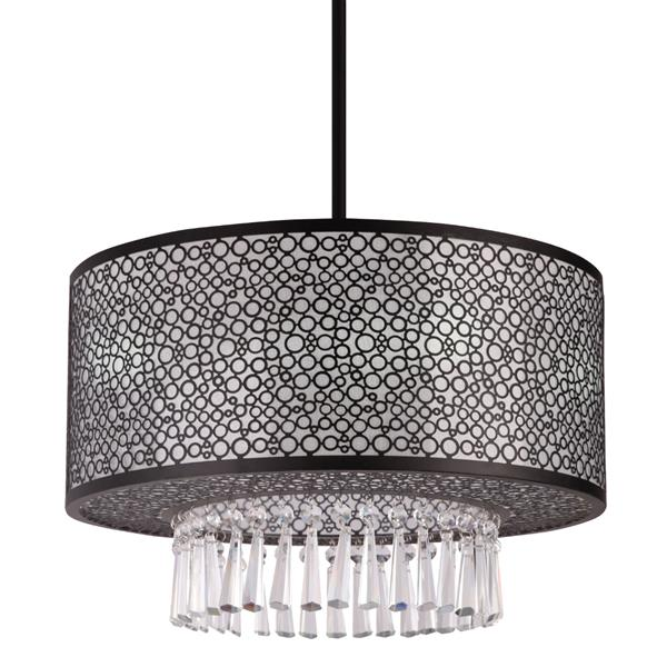 Whitfield Lighting Willem Semi Flush 3-Light Chandelier - 12-in x 20-in - Black