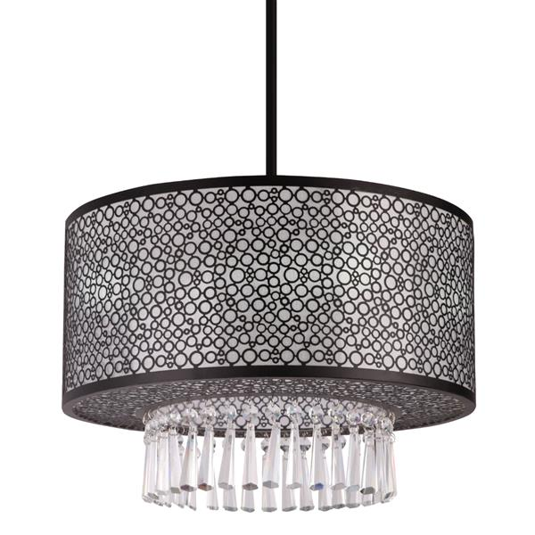 Whitfield Lighting Willem Semi Flush 3-Light Chandelier - 12-in x 16-in - Black