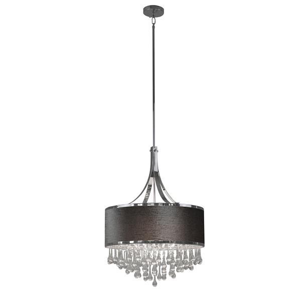 Whitfield Lighting 4-Light Mindy Chandelier - 50-in x 16-in - Grey Velvet