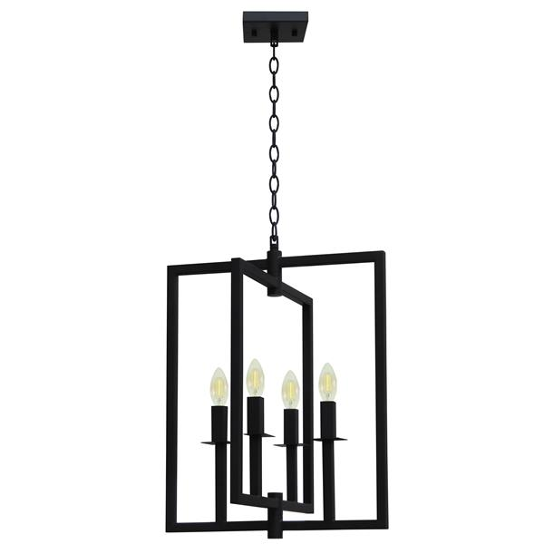Whitfield Lighting 4-Light Maxine Chandelier - 19.6-in x 15' - Black