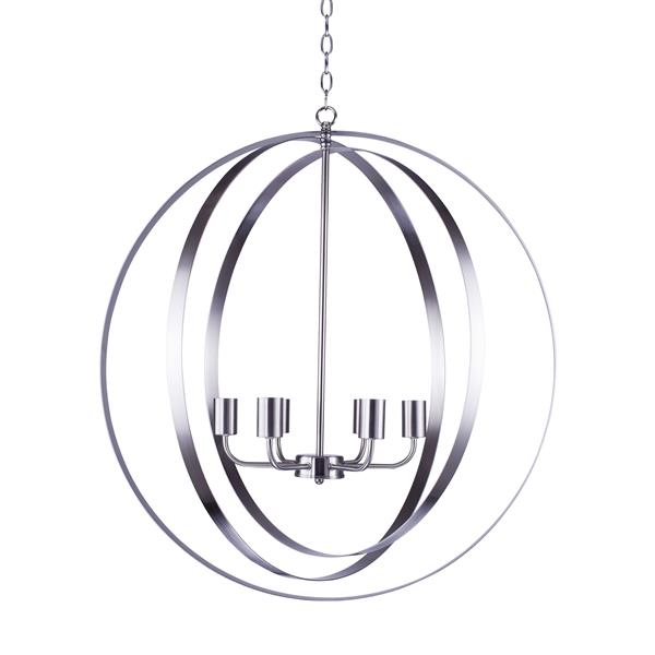 Whitfield Lighting Chandelier - 6 Lights - 30-in - Satin Stainless Steel