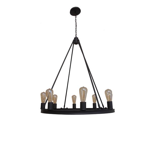 Whitfield Lighting Chandelier - 8 Lights - 24-in - Ebony Bronze