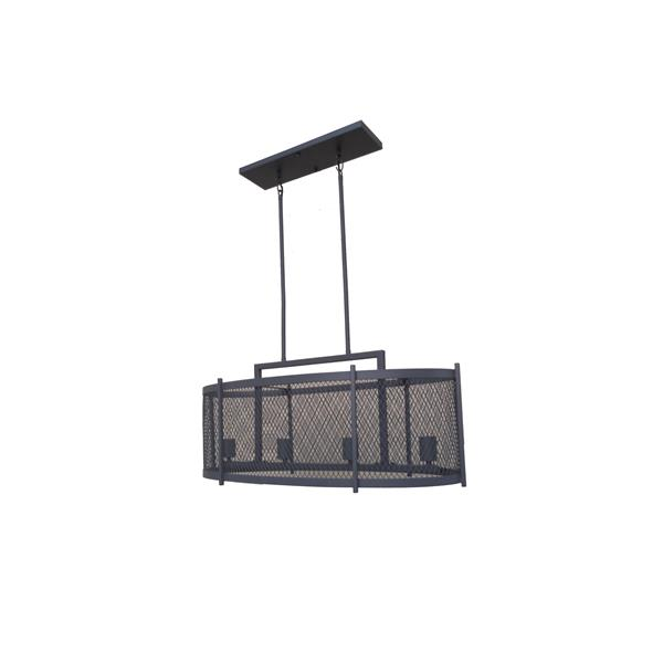Whitfield Lighting Industrial Chandelier - 4 Lights - 12.75-in - Dark Grey