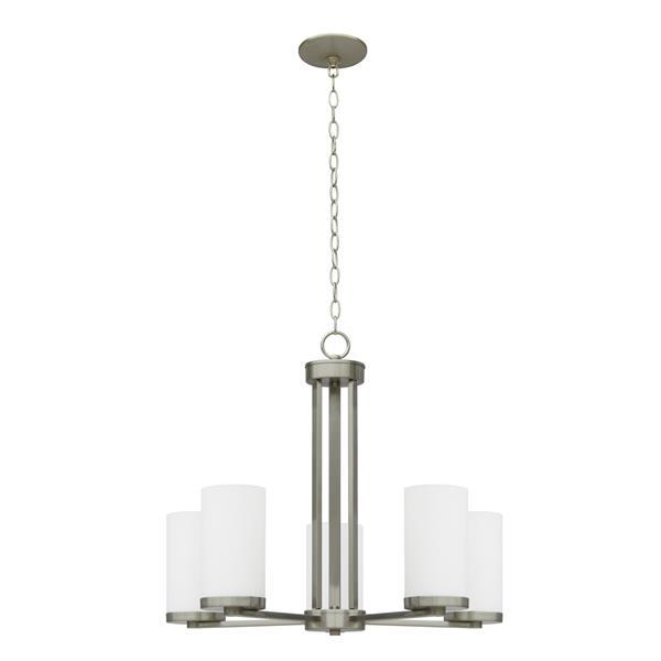 Whitfield Lighting Armella Chandelier - 5 Lights - 20-in - Satin Steel