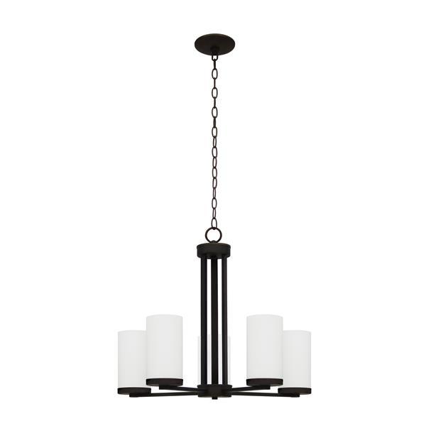 Whitfield Lighting Armella Chandelier - 5 Lights - 20-in - Ebony Bronze
