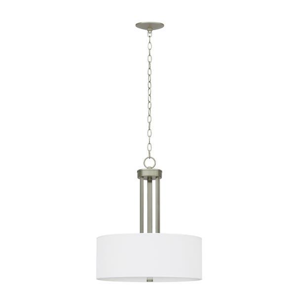 Whitfield Lighting Armella Chandelier - 3 Lights - 20.5-in - Satin Steel