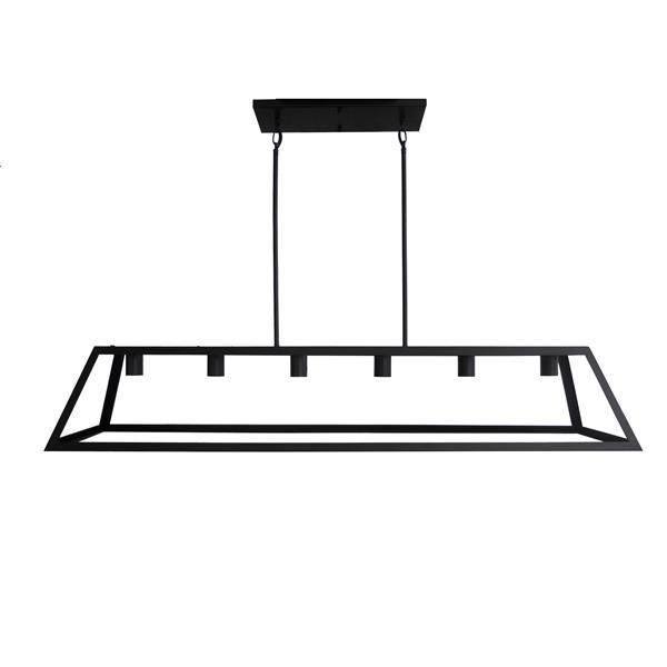 Whitfield Lighting Moira Chandelier - 6 Lights - 8.75-in - Black