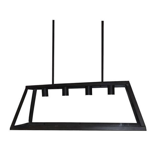 Whitfield Lighting Moira Chandelier - 4 Lights - 10.5-in - Industrial Black