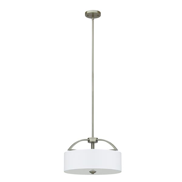 Whitfield Lighting Rainn Pendant Light - 3 Lights - 10-in - Satin Steel