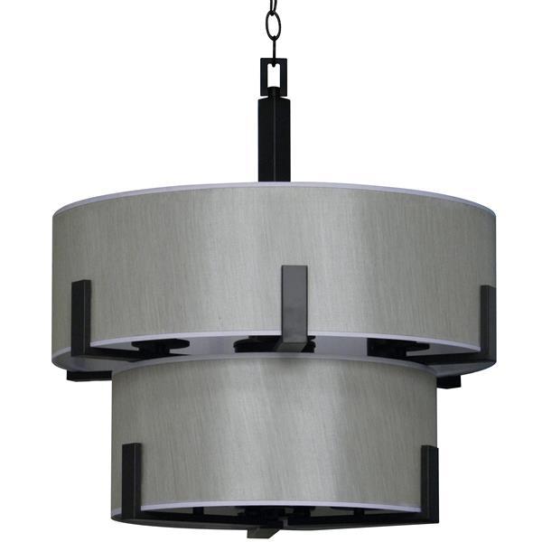 Whitfield Lighting Jaelyn Chandelier - 9 Lights - 22.4-in - Ebony Bronze