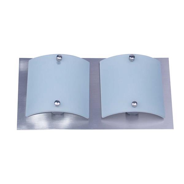 Whitfield Lighting Vanity Light - 2 Lights - 10.5-in - Satin Steel