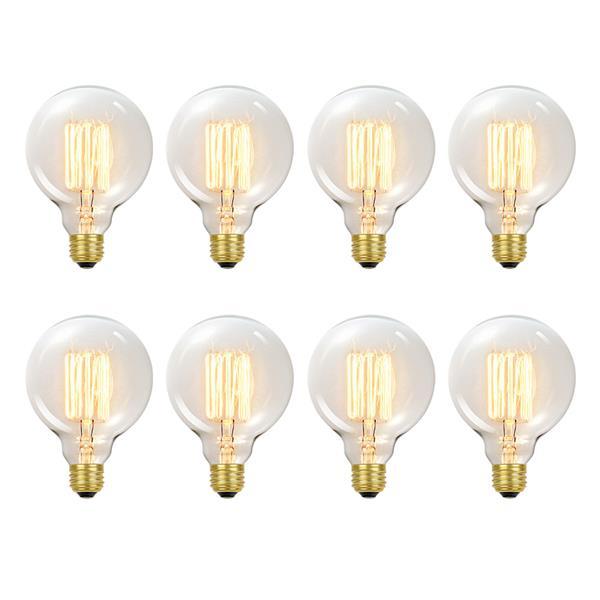 Ampoules incandescentes Edison, 60 W, paquet de 8