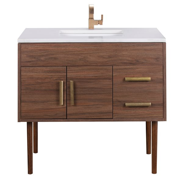 CUTLER KITCHEN & BATH Vanité de salle de bain Garland, 36 ...