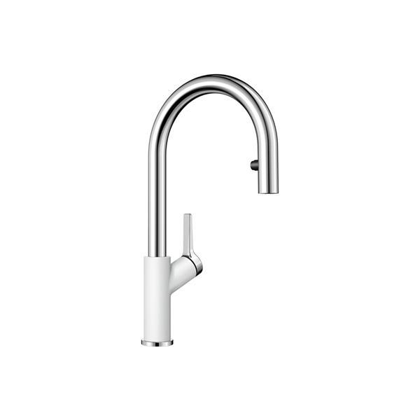 Blanco Canada Urbena Pull Down Kitchen Faucet Chromewhite 403738