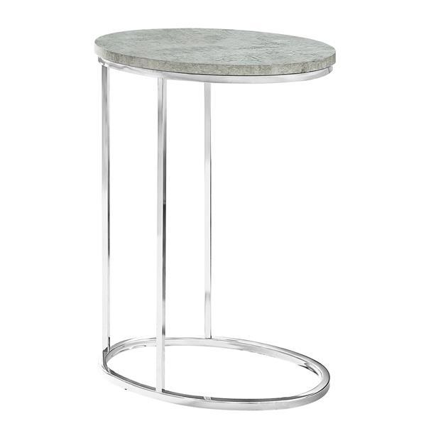 """Table d'appoint, 25"""", composite, gris"""