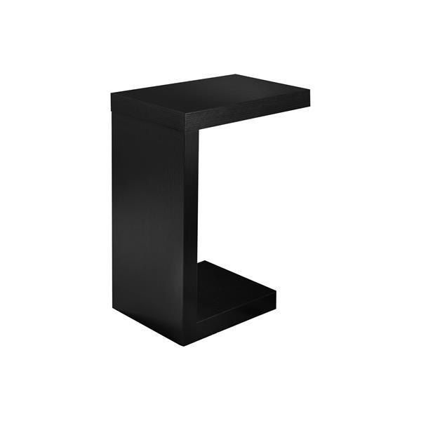 """Table d'appoint, 11,5"""" x 24"""", composite, noir"""