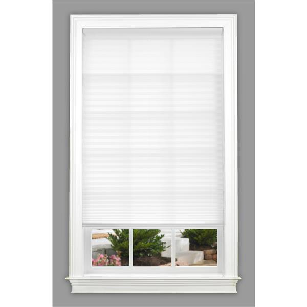 "allen + roth Light Filtering Shade - 25.5"" x 64"" - Polyester - White"