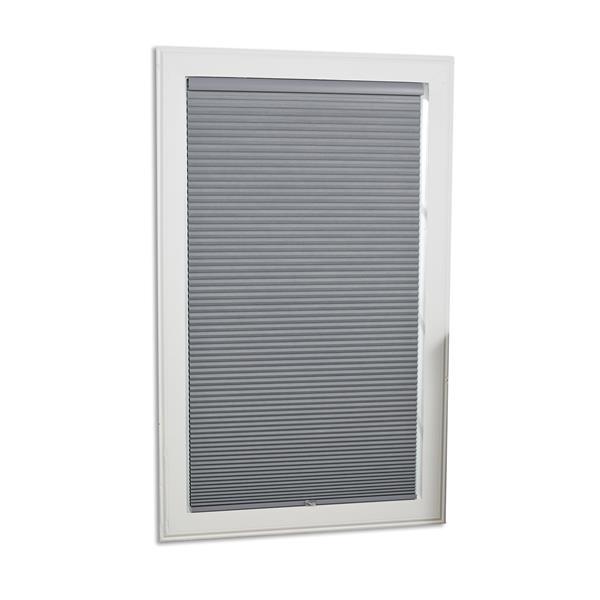 "Store coupe-lumière, 41,5"" x 48"", polyester, gris/blanc"