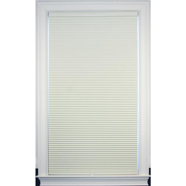 """allen + roth Blackout Cellular Shade- 30"""" x 48""""- Polyester- Creme/White"""