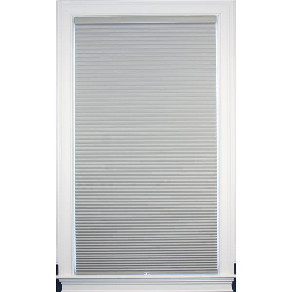 """allen + roth Blackout Cellular Shade - 25.5"""" x 64"""" - Polyester - Gray"""