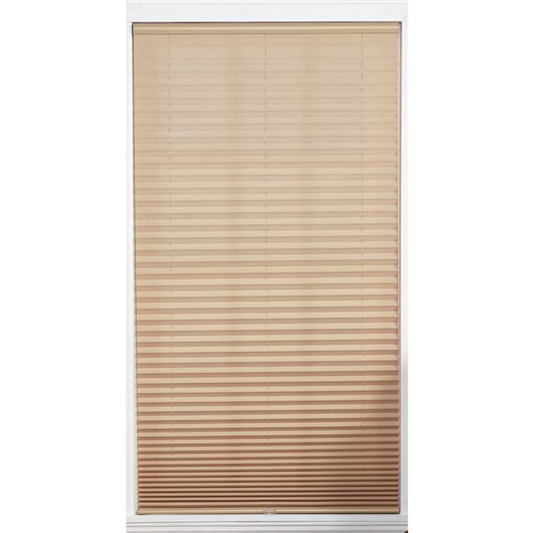"allen + roth Light Filtering Pleated Shade - 20"" X 72"" - Camel"