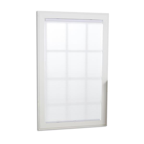 "allen + roth Light Filtering Cellular Shade - 59.5"" X 48"" - White"
