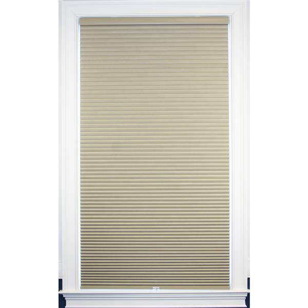 """allen + roth Blackout Cellular Shade - 65"""" x 48"""" - Polyester - Sand-White"""