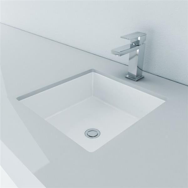 vasque avec trop plein int gr Lavabo sous-monté carré avec trop-plein intégré