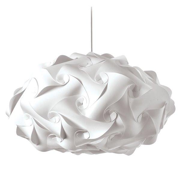 Dainolite Globus Pendant Light - 3-Light - 25-in x 14-in - White