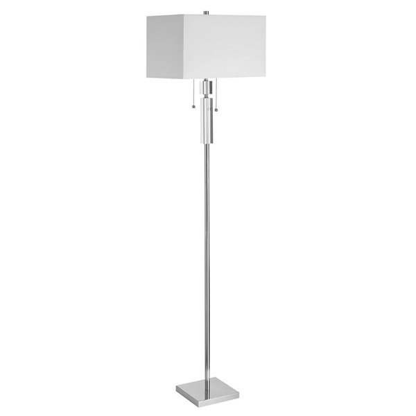 Dainolite Decorative Floor Lamp - 2-Light - Polished Chrome