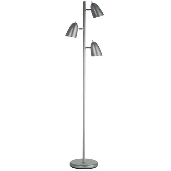 Dainolite Signature Floor Lamp - 3-Light - Satin Chrome