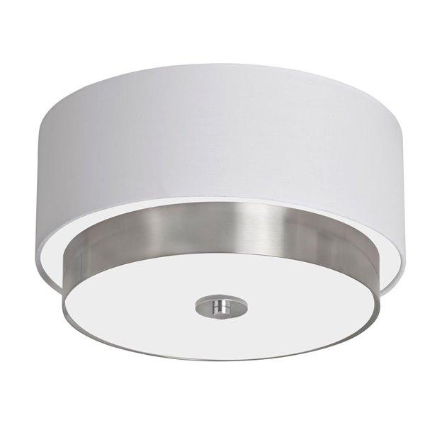 Dainolite Larkin Flush Mount Light - 3-Light - 14-in - White
