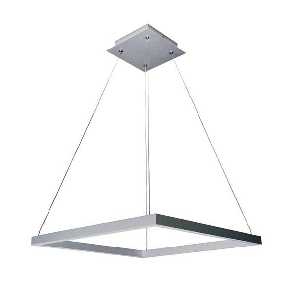 Vonn Lighting Atria Square Pendant Light - Satin Nickel - 20-in
